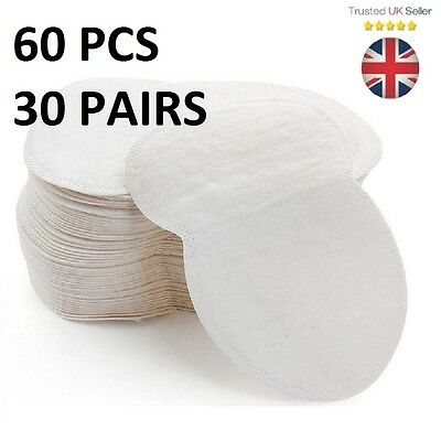 60PCS Underarm Sweat Pads Disposable Anti Sweat Guard Sheet Shield Absorbing UK