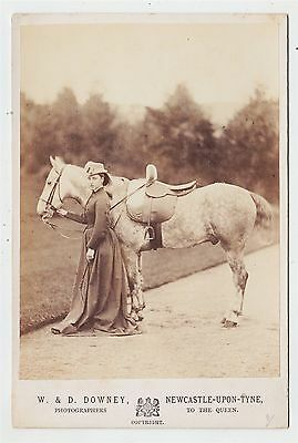 Royal cabinet photograph-PRINCESS LOUISE with horse Charlie by W. & D. DOWNEY