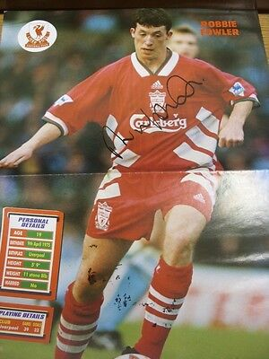 "circa 1990's Autograph: Liverpool - Robbie Fowler [Approx 16x12""] Hand Signed Ma"