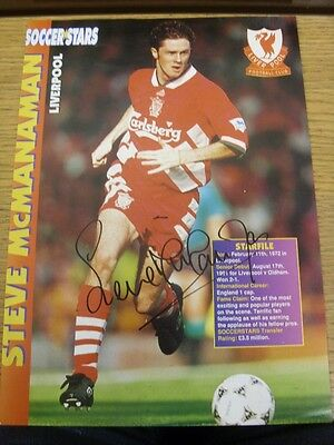 "circa 1990's Autograph: Liverpool - Steve McManaman [Approx 8x12""] Hand Signed M"
