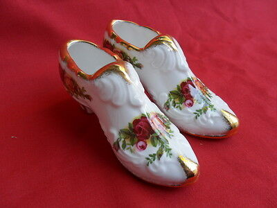 Royal Albert, Old Country Roses, 2 x Novelty Shoes 1973/93 first q