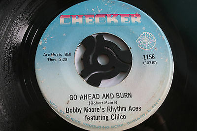 BOBBY MOORE'S RHYTHM ACES try my love again. usa 45 Checker. ex
