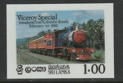 Sri Lanka 4285 - 1986 RAILWAYS CROMALIN DIE PROOF plus issued stamp