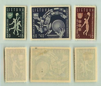 Lithuania, 1939, SC B52-B54, mint. rta5025