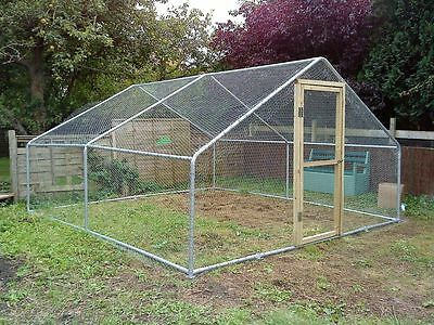 Large Walk In Chicken Run - 8 Sizes  - Coop Poultry Hen Rabbit Dog Cat Pet Cage