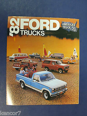1982 Ford Trucks Full Line Sales Brochure C7232