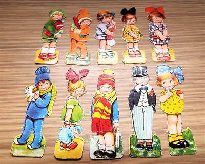 10 x Original Antique Early 1900's Die Cut Scraps of Young Children (b)