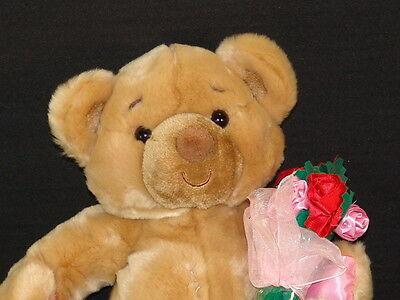 First And Main Valentine Rose Bouquet Plush Teddy Bear Chuckles Stuffed Animal