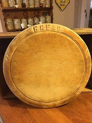 Vintage Traditional Carved Wooden Bread Board – Great Patina – Kitchenalia! –