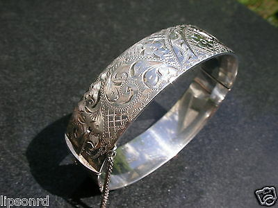 Heavy Vintage Georg Jensen Sterling Silver Bracelet Old London Bangle Chain