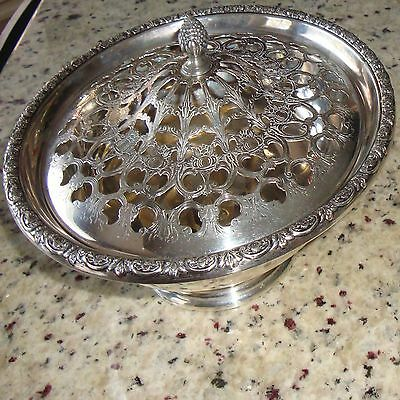 "9"" Prelude Sterling Silver Serving Footed Bowl Lid Vegetable Dish Covered Frog"