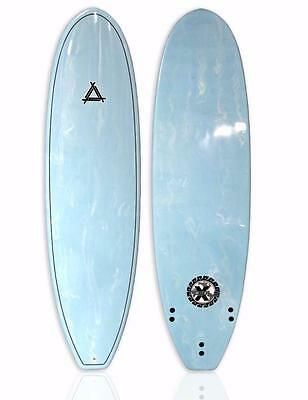 "New Triple X 6'10"" ""The Blue Marble"" Epoxy Funboard Surfboard"