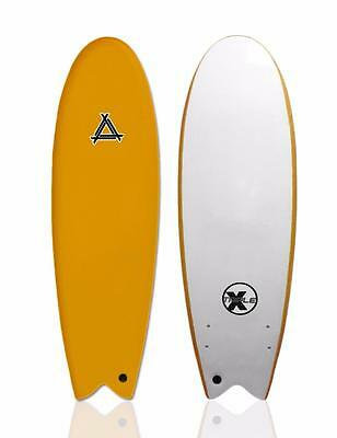 "Triple X 5'10"" Soft Top Fishboard Surfboard/Beginner/Kid's/Orange"