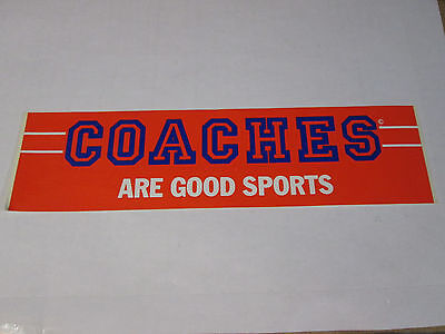 Coaches are good sports sticker