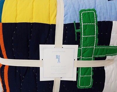 NEW Pottery Barn Kids AIRPLANE Icon Full Queen QUILT plane