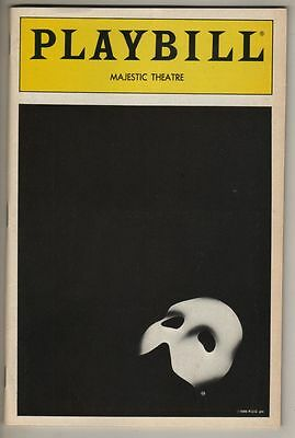"Michael Crawford ""Phantom of the Opera"" Playbill 1988 Steve Barton TICKETS"