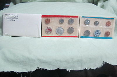 1968 United States US Mint Uncirculated Coin Set