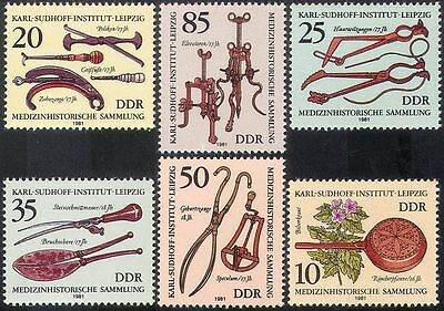 Germany 1981 Medical Equipment/Instruments/Health/Welfare/History 6v set n42103