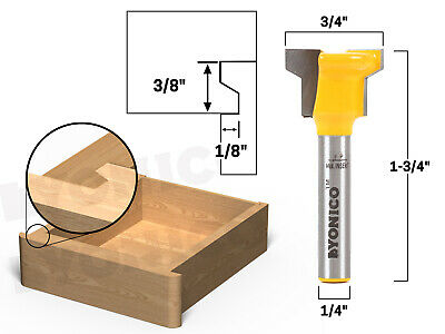 "Reversible Drawer Front Router Bit - 1/4"" Shank - Yonico 15032q"