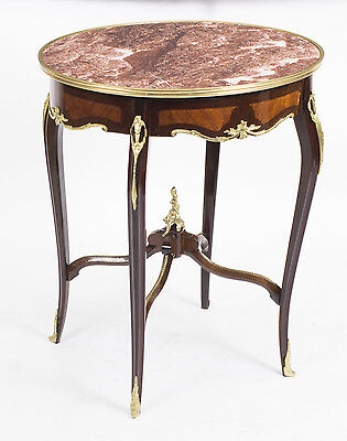 French Louis Revival Rouge Marble Topped Occasional Centre Table