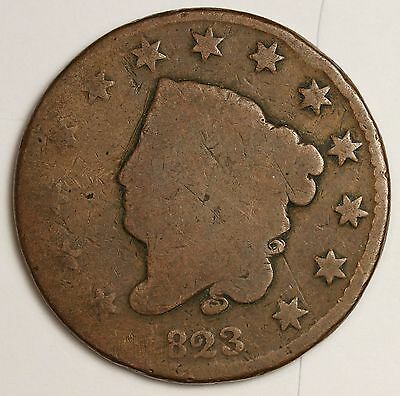 1823 Large Cent.  Good.  99314