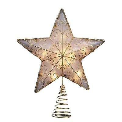 Gold Reflector Star Light Up Christmas Tree Topper Decoration UL1881 New