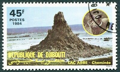 DJIBOUTI 1984 45f SG918 used FG NH Landscapes Lake Abbe b #W30