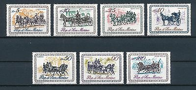 San Marino 703-9 mint, Coaches of the 19th Century, 1969