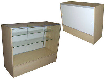 """48"""" Maple Color Full Vision Showcase Display Store Fixture KNOCKED DOWN #SC-SC4M"""