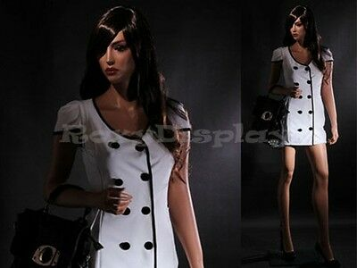 Fiberglass Female Manequin Mannequin Display Dress Form #MZ-LISA7+FREE WIG