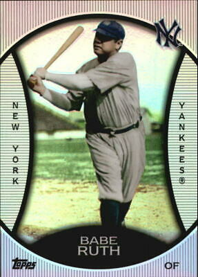 BABE RUTH ~ 2010 Topps Baseball Legends Platinum Chrome Wal-Mart Cereal #PC11