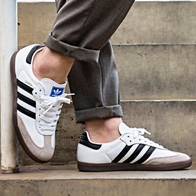 91c454988 ADIDAS SAMBA OG WHITE CORE BLACK SHOES BB2588 Size 7 8 9 11 12 13 gazelle
