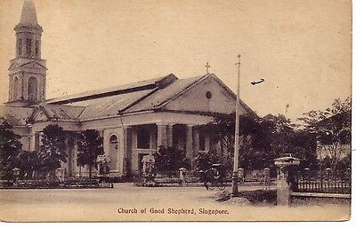 Unusual Great Church of the Good Shepard, Singapore P/C. C1910.