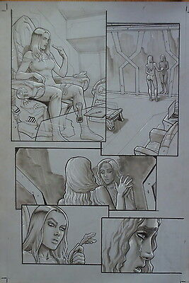 Pagina Original Ix Generation De Atilio Rojo Original Comic Art Page Top Cow