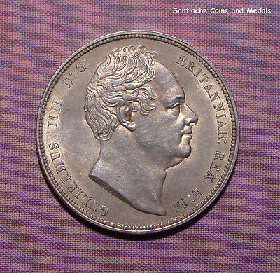 1834 KING WILLIAM IV HALFCROWN - Top Grade Coin With Lustre