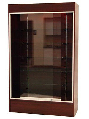 Wall Cherry Knocked Down Display Show Case W/Lights #WC4C-SC