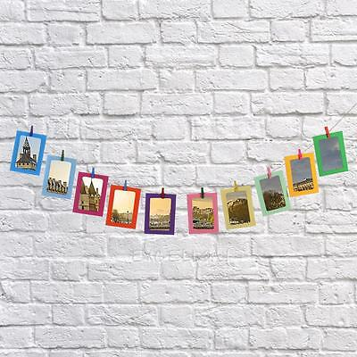 "10Pcs Creative 3''/5''/6""/7'' DIY Paper Photo Frame Wall Hanging Picture Album"
