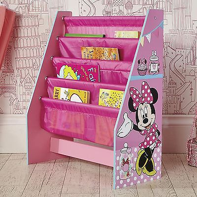 Official Minnie Mouse Pink Sling Bookcase Childrens Storage Bedroom Books New