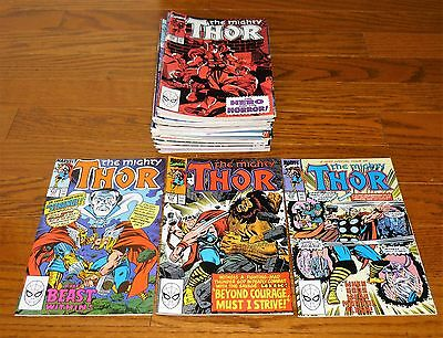 Lot of 46 The Mighty Thor # 413-461 Marvel Comics, 1990-1993 Ron Frenz