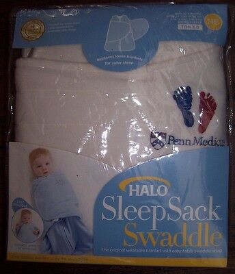 New HALO Sleep Sack Swaddle Wearable BLANKET Arms In or Out Fleece Cream NB