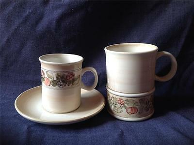 Pretty studio Jersey Pottery mug, cup and saucer set His & Hers Gift 3pc