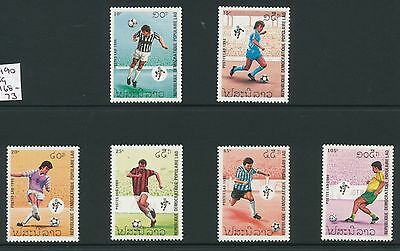 Laos 1990 World Cup Football Champs, Italy (2nd issue) set of 6