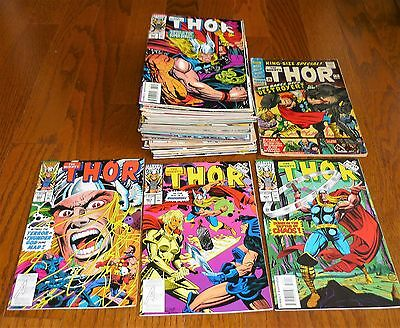 Lot of 49 The Mighty Thor # 462-502+ Annuals Marvel Comics, 1993-1996 Deodato!