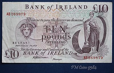 "1984 Bank of Ireland, Ten pound 10 note Prefix ""AB"" Harrison *[9584]"
