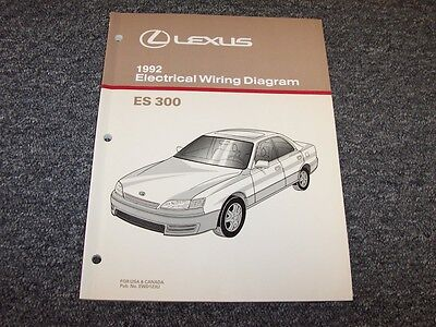 1992 lexus es300 sedan factory original electrical wiring diagram manual  3 0l v6