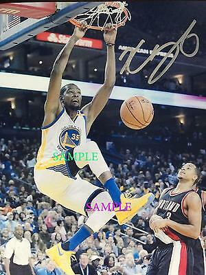 Kevin Durant #1 Reprint Photo Autographed Signed 8X10 Golden State Warriors Rp
