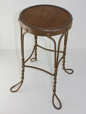 Antique Childs Boy Girl Wrought Iron Soda Fountain Ice Cream Stool Vintage Chair