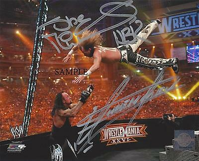 Undertaker Shawn Michaels Hbk Wwe Reprint Autograph Picture Signed Photo 8X10 Rp