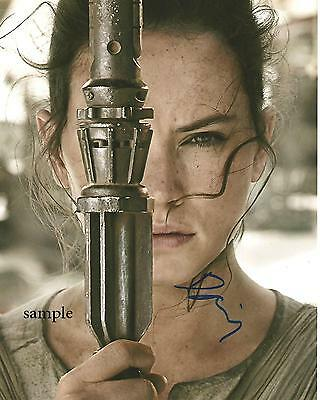 Daisy Ridley #6 Reprint Autographed Picture Photo Signed 8X10 Star Wars Awakens