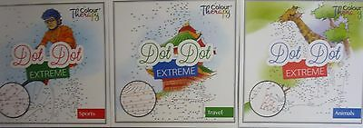 Adults or Children Extreme Dot to Dot Puzzle Book (Sports, Travel, Animals)